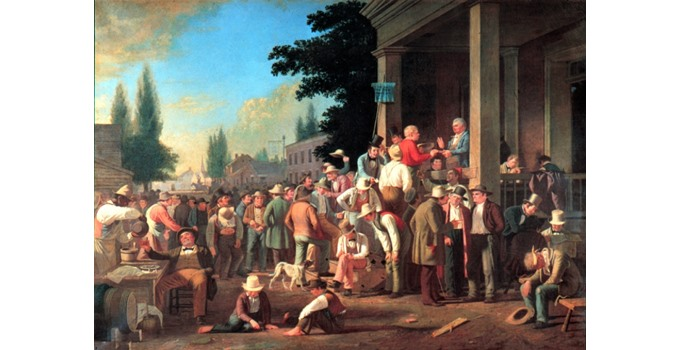 The County Election by George Caleb Bingham (1846)
