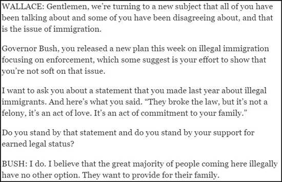 Jeb Bush On Illegal Immigrants - 550w