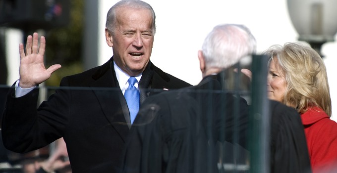 Joe Biden sworn in as Vice-President 2009