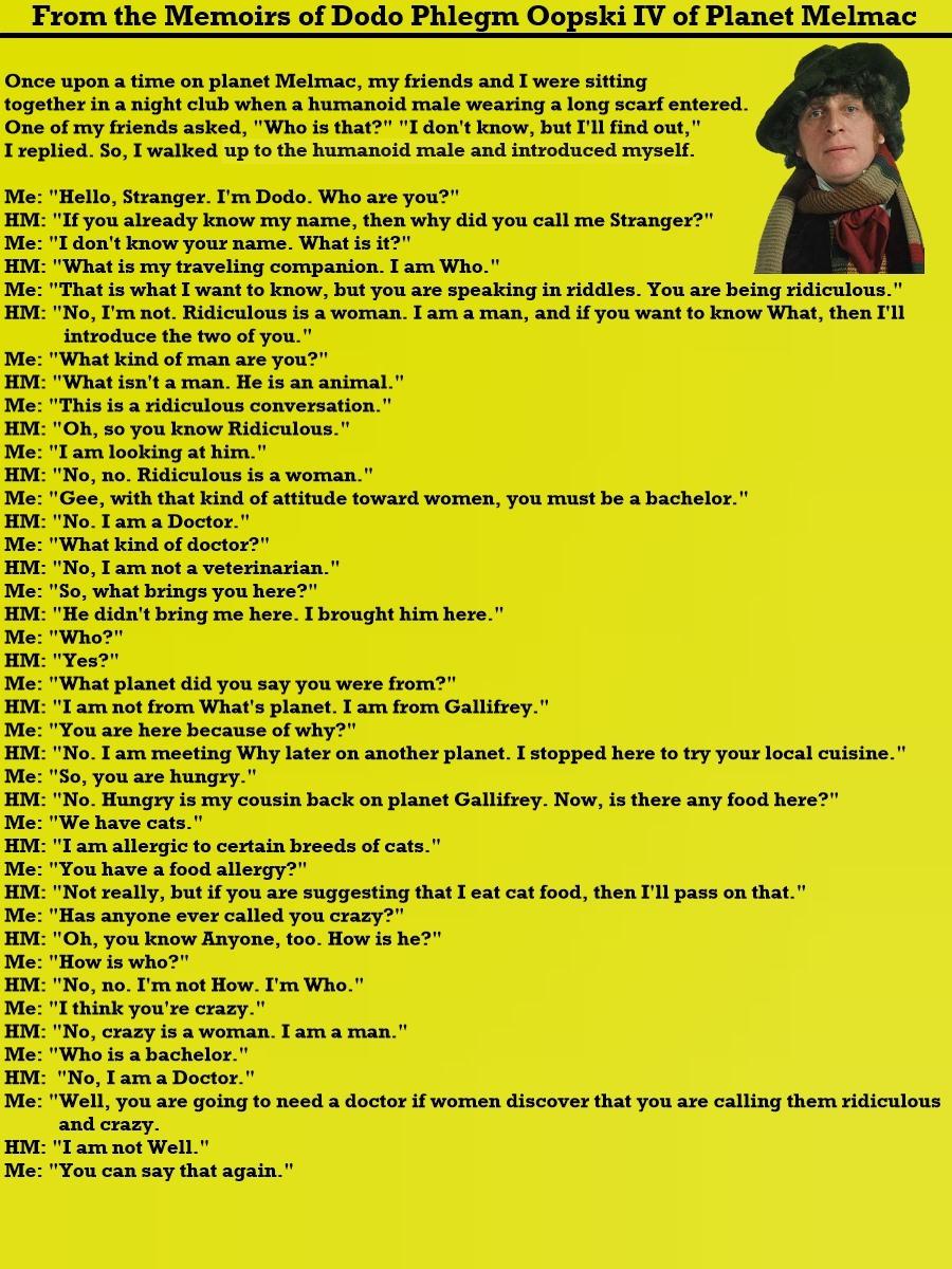 Memoir - Doctor Who