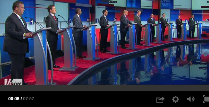 Primetime GOP Debate of 08-06-15