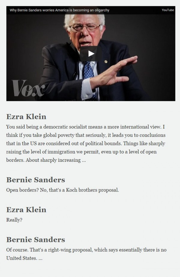 Vox - Sanders interview