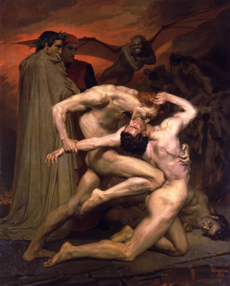 """William-Adolphe Bouguereau - Dante And Virgil In Hell"""