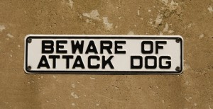 shutterstock_27716590 attack dog sign