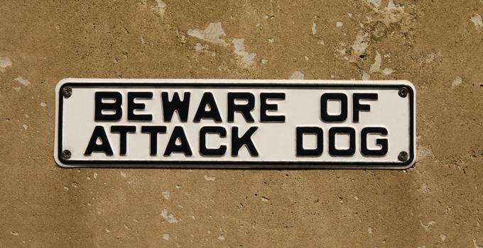shutterstock_27716590 attack dog sign