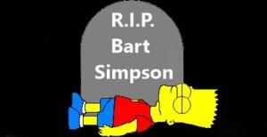 Bart Simpson Dead