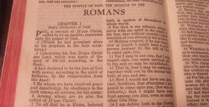Page from Romans