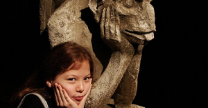 "David R. Tribble, ""Gargoyle and Girl"""