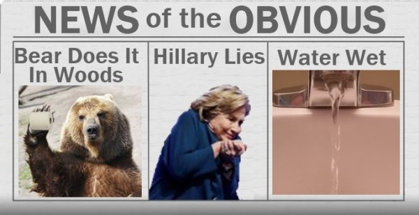News of the Obvious