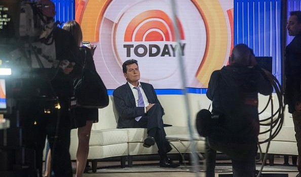 Actor Charlie Sheen waits on the set of the Today Show before formally announcing that he is H.I.V. positive in an interview with Matt Lauer on November 17, 2015 in New York City. Sheen says he learned of his diagnosis four years ago and was announcing it publically to put an end to rumors and extortion.  (Andrew Burton/Getty Images)