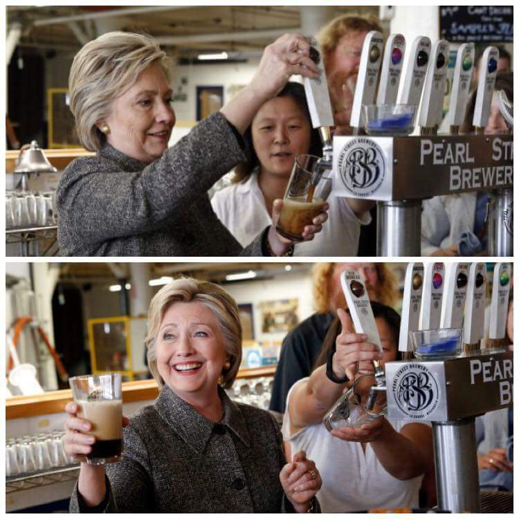 Pouring beer in her asshole