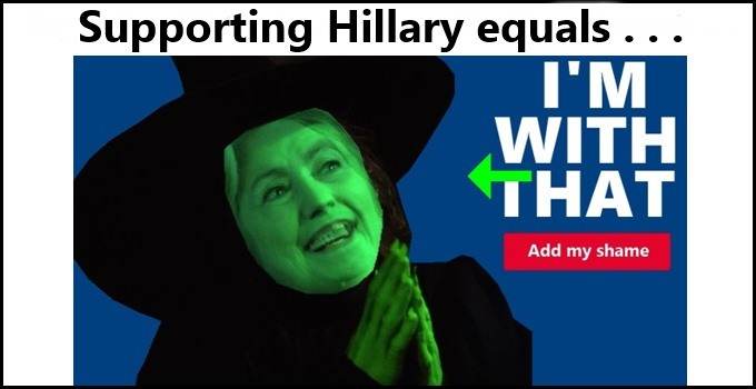 Supporting Hillary equals . . .