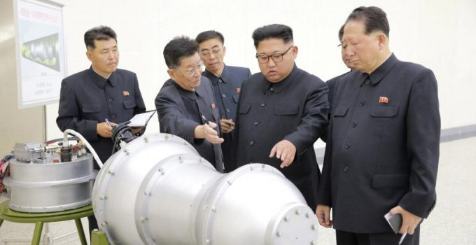 North Korean leader Kim Jong Un provides guidance on a nuclear weapons program